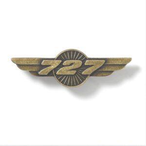 Pin de alas de Boeing 727 - Dorado