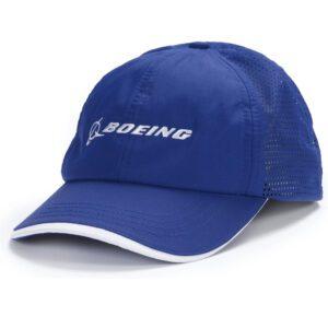 Gorra de rendimiento con logotipo de Boeing - Royal