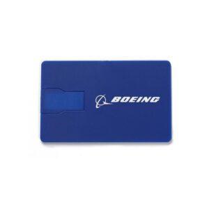 Unidad USB plana de 16 GB con el logotipo de Boeing